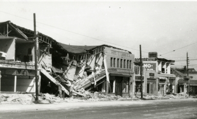 Santa Barbara 1925 Earthquake Damage - 300 Block of State Street