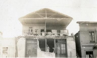 Santa Barbara 1925 Earthquake Damage - Canon Perdido Street