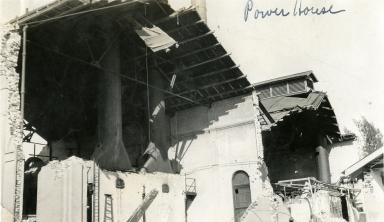 Santa Barbara 1925 Earthquake Damage - Southern California Edison Powerhouse