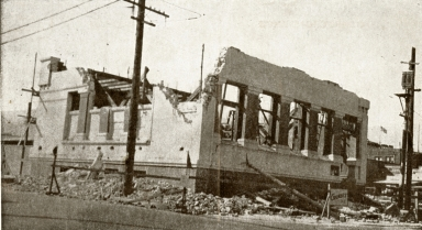 Santa Barbara 1925 Earthquake Damage - Pacific Telephone Company Building