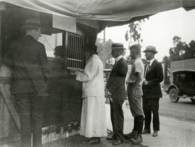 Santa Barbara 1925 Earthquake Damage - Temporary Bank