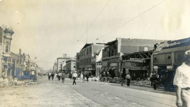 Santa Barbara 1925 Earthquake Damage - 900 block State Street