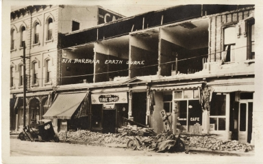 Santa Barbara 1925 Earthquake damage - Grand Hotel
