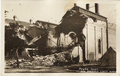 Santa Barbara 1925 Earthquake damage - Power plant
