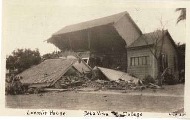 Santa Barbara 1925 Earthquake damage - De La Vina Street