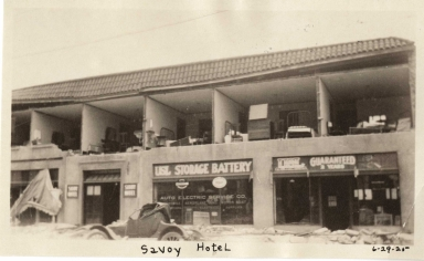 Santa Barbara 1925 Earthquake damage - Savoy Hotel