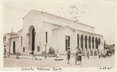 Santa Barbara 1925 Earthquake damage - County National Bank