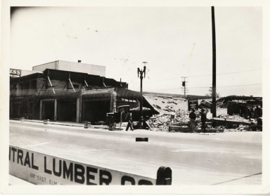 Earthquake damage - Long Beach, California 1933