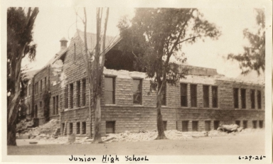 Santa Barbara 1925 Earthquake damage - Junior High School