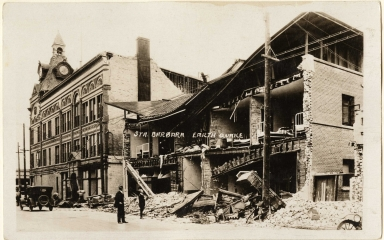 Santa Barbara 1925 Earthquake damage - Fithian Building