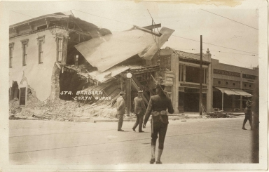 Santa Barbara 1925 Earthquake damage - State Street