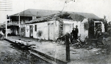 Alpheus Thompson Adobe (left) and Justice of the Peace Adobe (right)