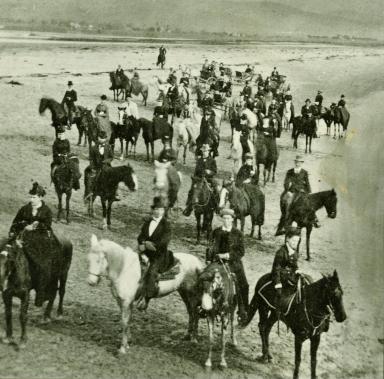 Horses on West Beach Near Castle Rock