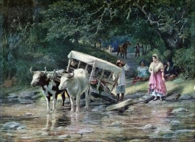 "Alexander Harmer Painting -""Slight Mishap to the Caretta"""