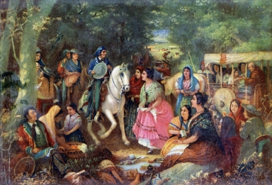 "Alexander Harmer Painting - ""Casual Meeting on the Road"""
