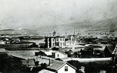 Panoramic of Santa Barbara Looking North