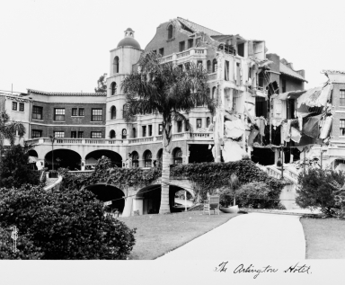Santa Barbara 1925 Earthquake Damage - Hotel