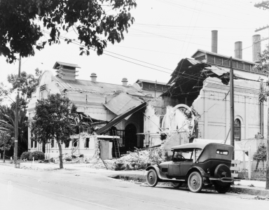 Santa Barbara 1925 Earthquake Damage - Powerhouse