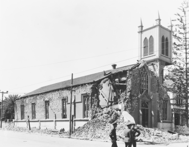 Santa Barbara 1925 Earthquake Damage - Catholic Church