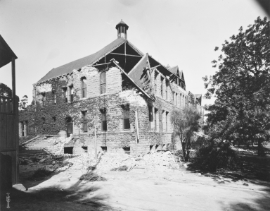 Santa Barbara 1925 Earthquake Damage - School