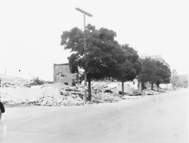 Santa Barbara 1925 Earthquake Damage - Mason Street