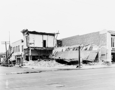 Santa Barbara 1925 Earthquake Damage - 1100 Block State Street