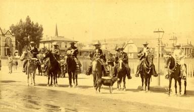 Spanish Band on Horseback
