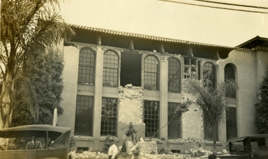 Santa Barbara 1925 Earthquake Damage - Library