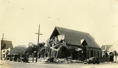 Santa Barbara 1925 Earthquake Damage - Unitarian Church