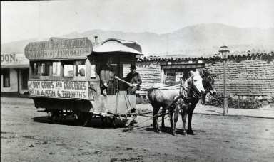 Mule Drawn Trolley on State Street