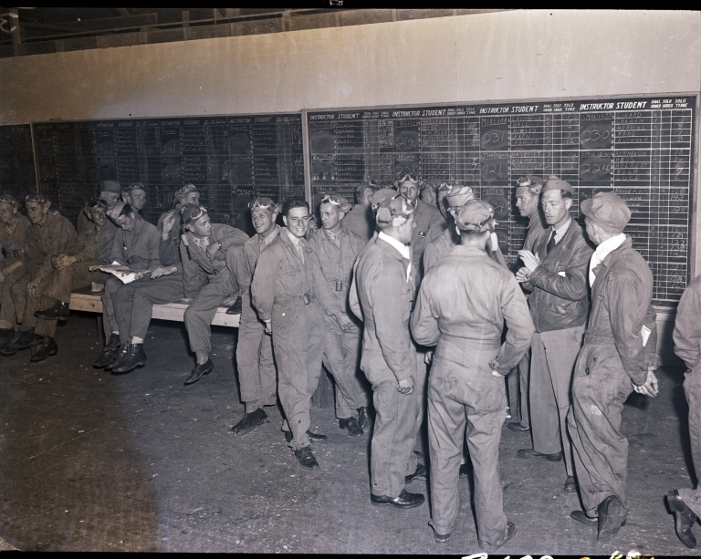 Cadets with their flight instructor assignments, Hancock Field