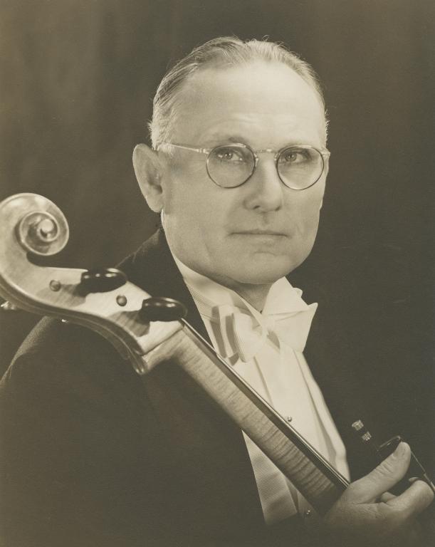 Allan Hancock, with cello