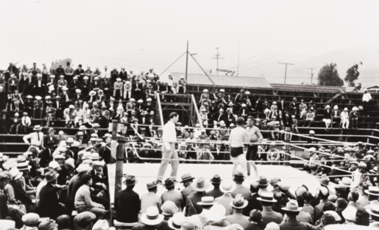Filipino boxing matches : Pismo Beach : about 1930.