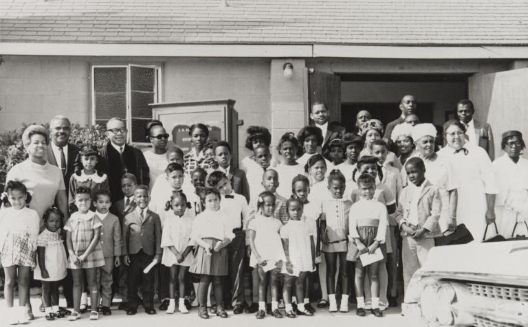 Bethel A.M.E. Church, Oxnard, Sunday School : 1967 ; Reverend C. N. Austin.