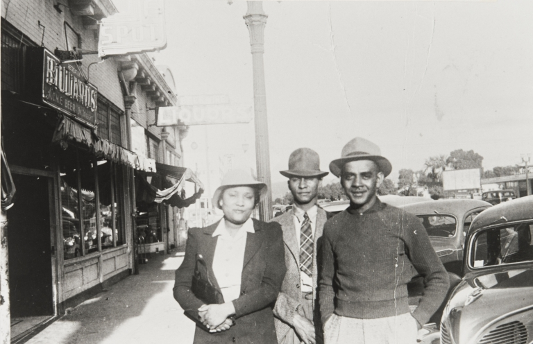 """Wilford and Gatewood Family members on Santa Maria's """"Whiskey Row"""" : early 1930s."""