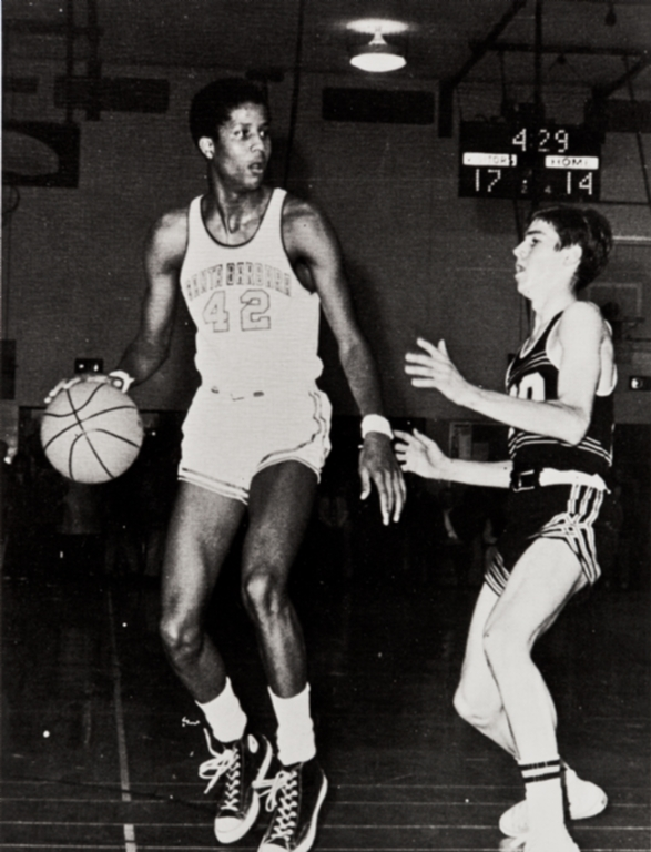 A good basketball player, a good student, Keith (later Jamaal) Wilkes ; Wilkes maintained a 3.8 grade point average throughout high school ; his professional career began with the Golden State Warriors ; he then played for the Lakers.