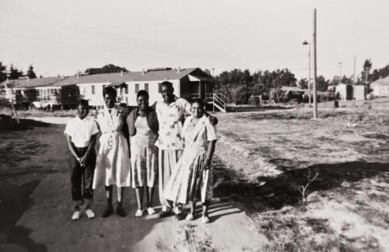 Mary Wilson, Mary Ann Collins, Vera Wilson, Clarence Battle and Anna Battle.
