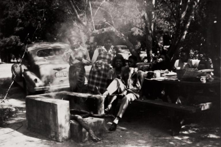 Bernise Turner and friends, Waller Park, Santa Maria : 1945.