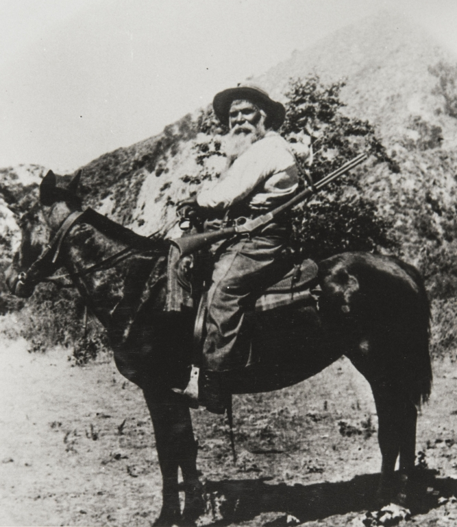 Juan José Fustero, a lifelong resident of Piru, Ventura County, son of San Fernando Mission Indians of Tataviam and Kitanemuk ancestry. Photo taken in the early twentieth century.
