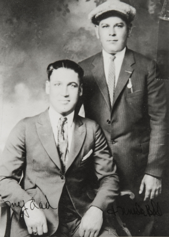 William Branch (right) and his brother-in-law, Agustín Padilla : ca. 1925.