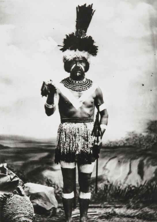 Rafael Solares (1822-1890), Chief of the Inéseño Chumash Community of Zanja de Cota. Photographed in traditional dancing regalia : 1878, by Léon de Cessac, a French anthropologist.