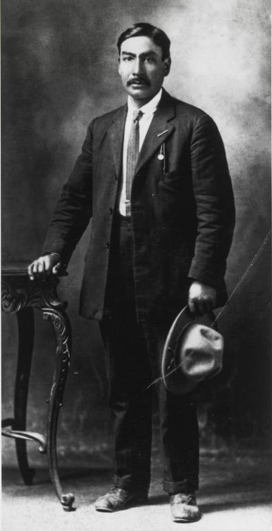 Francisco Felix Olivas, son of Rosario Cooper and William Olivas : ca. 1895.