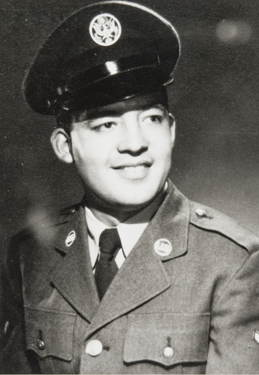 Leroy Trejo, son of Mary and Albert Trejo, in Air Force uniform.