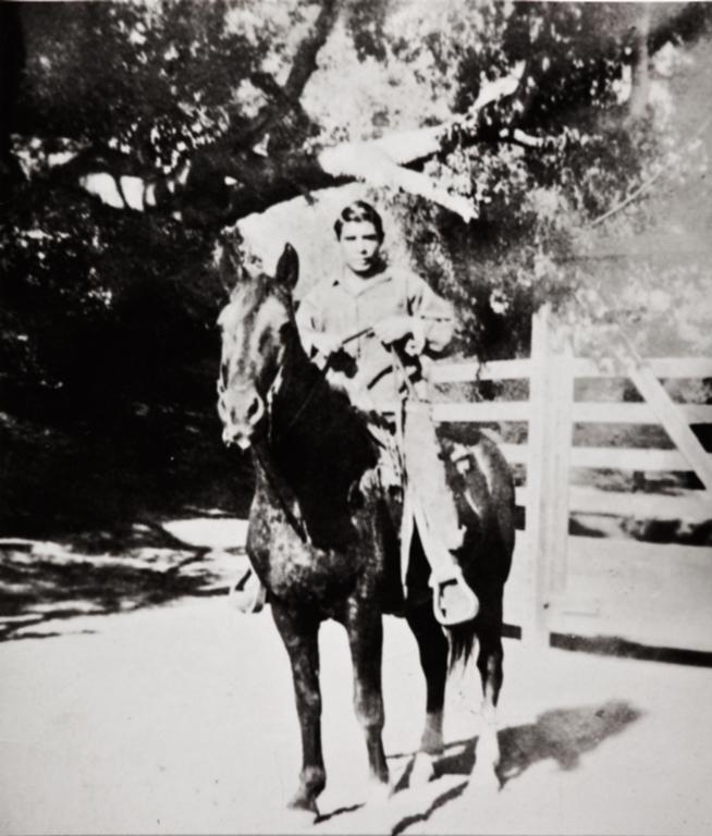 Vincent Tumamait on horseback : circa 1935.
