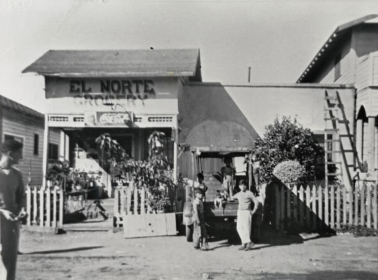 El Norte grocery store in the barrio of Santa Barbara.