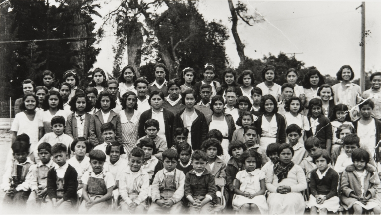 "Class portrait at the ""Mexican School"" in Carpinteria."