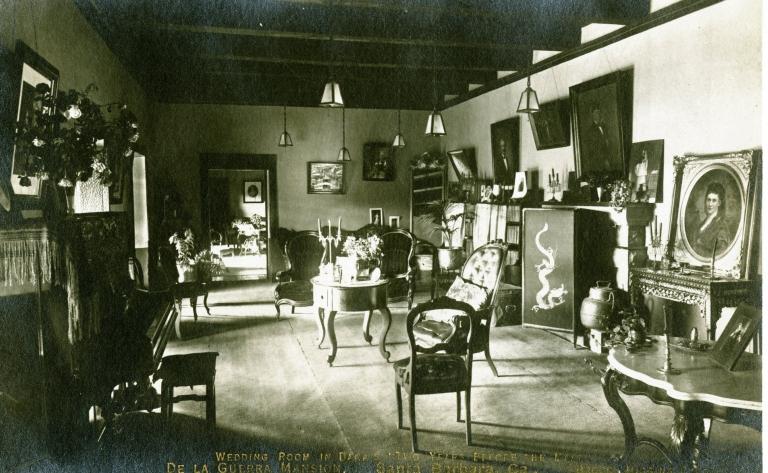 Casa de la Guerra Adobe (interior view)