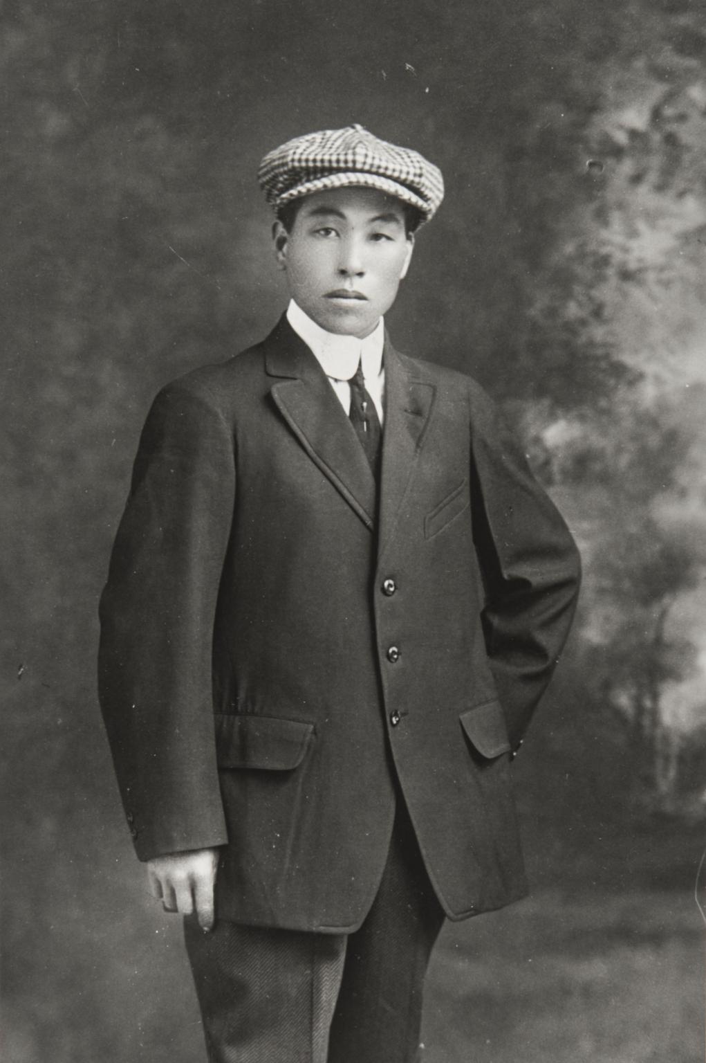 "Yoshio Nagano when he came to Morro Bay from Japan : 1912. He took the American name of ""George."""