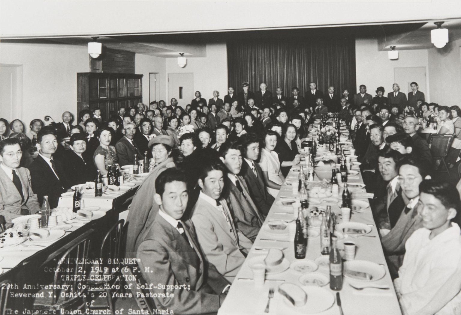 Japanese Union Church of Santa Maria Triple Celebration : October 2, 1949. (20th Anniversary, completion of self support, and Rev. Y. Oshita's 20th year pastorate).