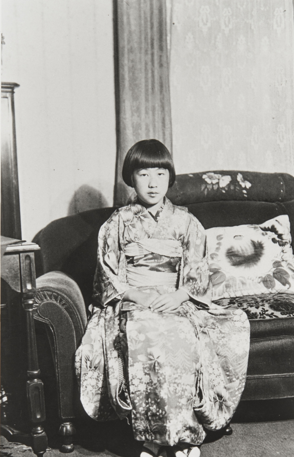 June Tokuyama as a young girl in Lompoc, about 1930. She was a 1938 Lompoc High School graduate and a member of the Scholarship Society.